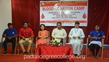 Blood Donation Camp held at Padua college