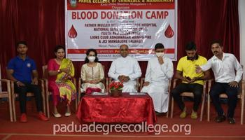 Blood Donation Camp organised at Padua College